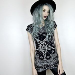 Killstar Bandana Tunic Dress NWT